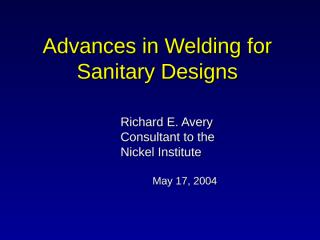 Advances in welding .ppt