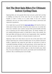 Get The Best Spin Bikes For Ultimate Indoor Cycling Class.doc