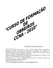 CURSO PARA OBREIROS - OSNIR GONÇALVES