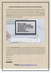 An Excellent Web Design Company Necessary for Your Online Presence.pdf
