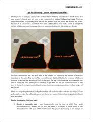 Tips for Choosing Custom Mclaren Floor Mats.docx